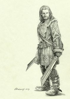 alessiapelonzi:  Can't wait to seeThe Hobbit: The Desolation of Smaug, so I try to keep calm drawing all its characters… here's the wonderful Dean O'Gorman as Fili. Lovely blond, isn't he?