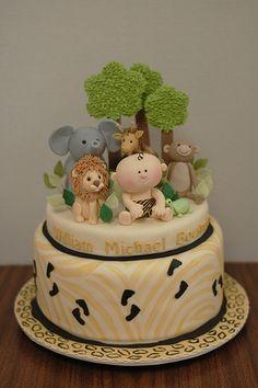 Baby Jungle Baby Shower Cake baby shower cakes, jungl babi, babi jungl, jungl cake, babi shower, jungle cake, jungle baby shower cake, birthday cakes, baby showers