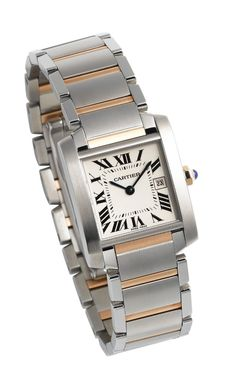 Cartier Midsize W51012Q4 Tank Francaise Stainless Steel and 18K Gold Watch: click to buy best women Watches