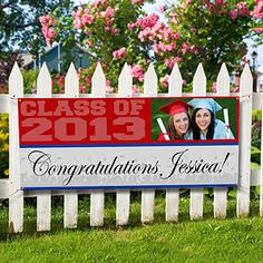 Personalized Photo Graduation Banners for graduation parties