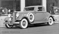"""A Vogue """"Jumbo"""" Tire promotion in Los Angeles // 1932 Hupmobile Coupe"""