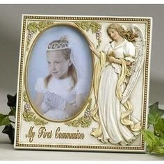 My First Communion Guardian Angel Photo Frame