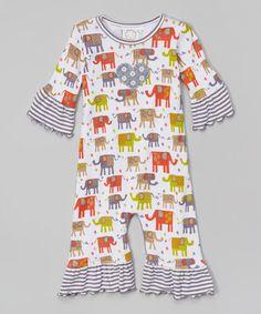Loving this White Elephant Ruffle Playsuit - Infant on #zulily! #zulilyfinds