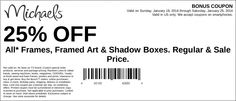 Michaels: 25% off Frames Printable Coupon
