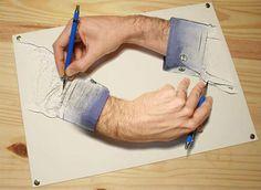 Parody of an Escher piece