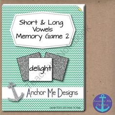 Long and Short Vowel Sounds Matching Memory Game Version 2! from Anchor Me Designs on TeachersNotebook.com -  (13 pages)  - Long and Short Vowel Sounds Matching Memory Game Version 2!