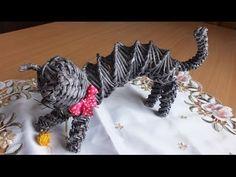 Плетение из газет Кошка - YouTube