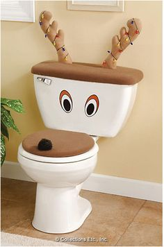 This is a fun idea! Not just for christmas, but I think it would be fun to make my kid's toilet a MONSTER! Mwahahaha! ;)