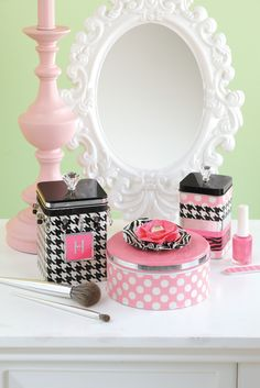 "Decorative tins from the book ""Go Crazy with Duct Tape"""