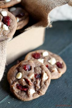 Cranberry White Chocolate Chip Nutella Cookies | www.diethood.com | Sweet and delicious Nutella Cookies studded with white chocolate chips and dried cranberries. | #recipe #cookies #fbcookieswap #nutella