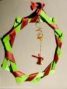 Popsicle Stick Christmas Wreath