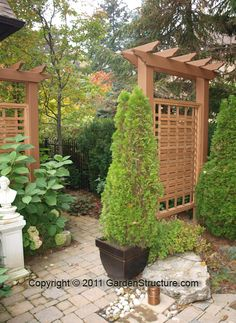 Privacy Fences Semi-Private privaci fenc, privacy screens, grape vines, privacy fences, arbor, patio, fenc semipriv, hous, deck