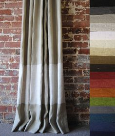 Etsy Banded Panel Curtains