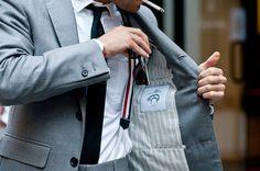 grey suit tom browne suspenders men style street