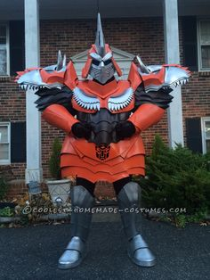 Homemade Dinobot Grimlock Costume – Transformers: Age of Extinction... Coolest Halloween Costume Contest