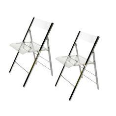 Clinton Folding Chair (Set of 2) at Joss & Main