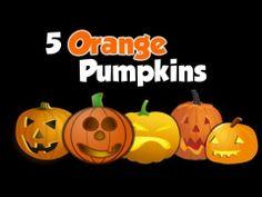 5 Orange Pumpkins (Fall song for kids)