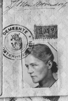 Identity photo of Dirke Otten, who gave her identity card to a Jew in order to save her. Otten and her husband hid as many as 50 Jews in their home at one time