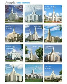 Temple Memory Game (3 versions: Utah, under construction, or favorites)