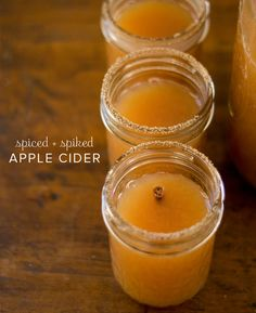spiced and spiked apple cider