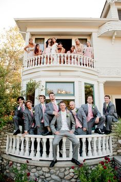 genius way to take photos together before the ceremony without seeing each other!