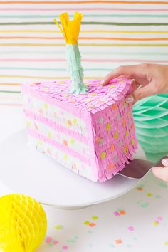 Birthday Cake Piñata DIY