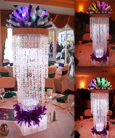 Light up Rock Candy Centerpieces. Learn how we made them at http://www.bulkcandystore.com/info/rock-candy-centerpieces/