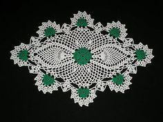 New Hand Made Doily Crochet St. Patrick's Shamrock