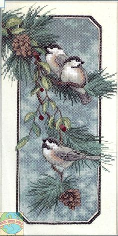 Dimensions ~ Chickadees On A Branch