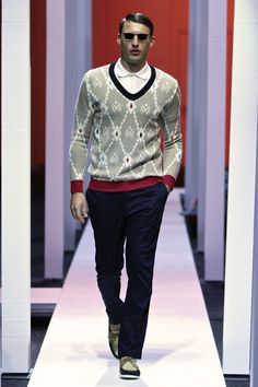 A/W 2013 collection: v-neck with MaXhosa logo knitted in the front panel.     Photography: Simon Deiner / SDR  Shoes supplied by: Sebago