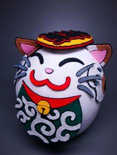 Get lucky with felted Maneki Neko. | Japanistic/Blog