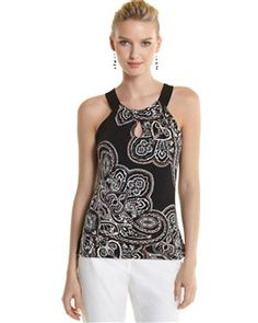 paisley halter, white houses, black market, hous black, whiteblack fashion
