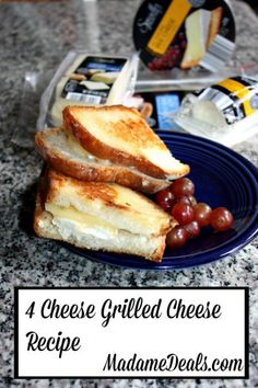 4 Cheese Grilled Cheese Easy Recipe made with ingredients from #ALDI #recipes #inspireothers
