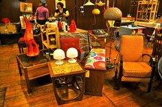 Our Stall at Judy's Vintage Furniture Flea in York Hall at Bethnal Green