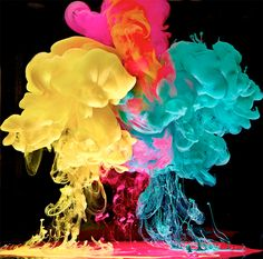 mark mawson, explosions, colors, vibrant color, art, underwater photography, paints, rainbow, ink