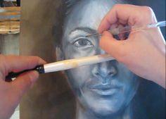 Online art class - portrait painting - oils