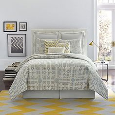 The Savannah Comforter Set from Real Simple brings fabulous modern style to your bedroom. It features a beautifully composed, intricate geometric print in a warm and stylish earth tone palette.