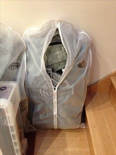storage solution for your stones~garment bags!