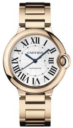 Cartier Ballon Bleu Medium 18k Rose Gold Watch W69004Z2