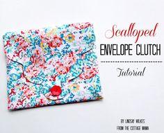envelop clutch, clutch tutori, scallop envelop, clutch bags
