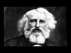 """Heres a virtual movie of the great Henry Wadsworth Longfellow reading his much loved poem """"The Day is Done"""""""