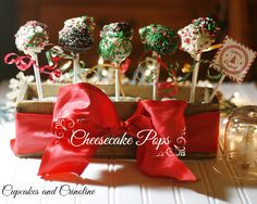 Cheesecake Pops Made with a Dulce De Leche Baking Kit | Cupcakes and Crinoline