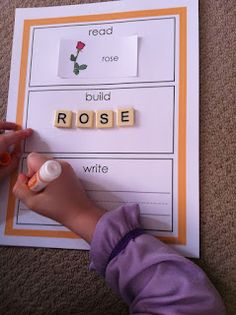cool education idea  writing words using letters
