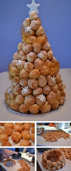 croquembouche tutorial! #croquembouche #christmas #recipe #pastries  http://thecakebar.tumblr.com/post/20597090784/french-croquembouche-tutorial-tutorial-recipe