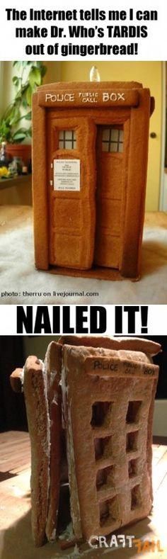 gingerbread TARDIS nailed it