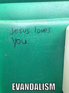 Religious vandalism…
