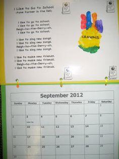 It's a Preschool Party: Handprint Calendar