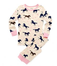 These are too cute for a little girl, I'm actually wearing horse Pajamas right now with little Appaloosa's on them, but their nothing like these. :D