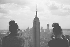 Photography wise...  photography pretty hair girls Black and White fashion skyline beautiful style friends dream NYC city architecture new york USA building wish...