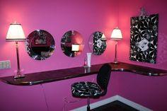 mirror, vaniti, teen bedrooms, craft, beauty bar